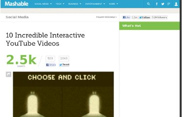 http://mashable.com/2011/01/30/interactive-youtube-videos/