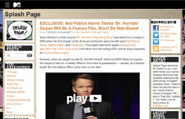 http://splashpage.mtv.com/2010/03/19/neil-patrick-harris-dr-horrible-sequel/