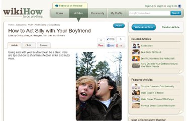 http://www.wikihow.com/Act-Silly-with-Your-Boyfriend