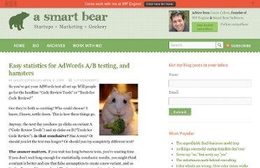http://blog.asmartbear.com/easy-statistics-for-adwords-ab-testing-and-hamsters.html