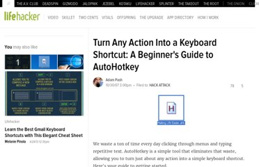 http://lifehacker.com/316589/turn-any-action-into-a-keyboard-shortcut