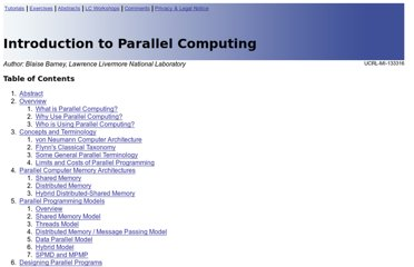 https://computing.llnl.gov/tutorials/parallel_comp/