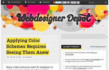 http://www.webdesignerdepot.com/2011/01/applying-color-schemes-requires-seeing-them-anew/
