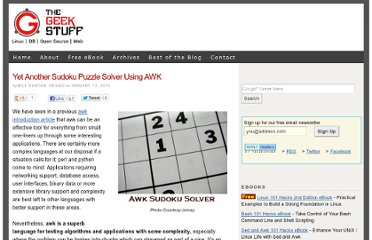 http://www.thegeekstuff.com/2010/01/yet-another-sudoku-puzzle-solver-using-awk/