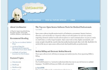 http://www.ondd.org/the-top-100-open-source-software-tools-for-medical-professionals/