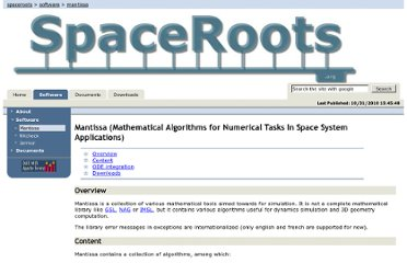 http://www.spaceroots.org/software/mantissa/index.html