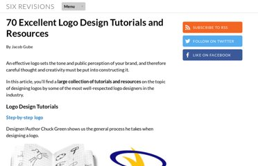 http://sixrevisions.com/graphics-design/70-excellent-logo-design-tutorials-and-resources/