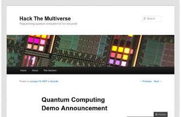 http://dwave.wordpress.com/2007/01/19/quantum-computing-demo-announcement/