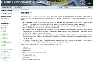 http://rwiki.sciviews.org/doku.php?id=getting-started:what-is-r:what-is-r
