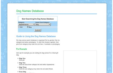 http://www.dog-names.us/database.asp?Category1=Appearance