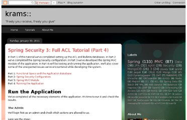 http://krams915.blogspot.com/2011/01/spring-security-3-full-acl-tutorial_2143.html