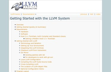 http://llvm.org/docs/GettingStarted.html
