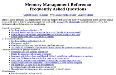 http://www.memorymanagement.org/faq.html
