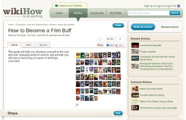 http://www.wikihow.com/Become-a-Film-Buff