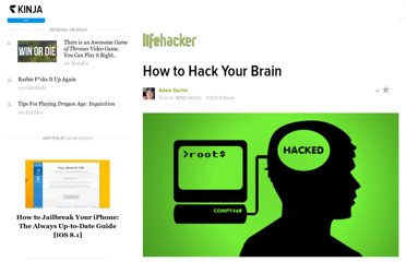 http://lifehacker.com/5747213/how-to-hack-your-brain
