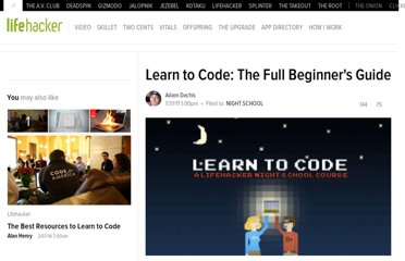 http://lifehacker.com/5744113/learn-to-code-the-full-beginners-guide