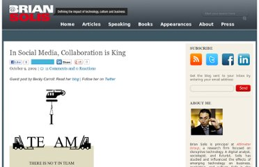 http://www.briansolis.com/2009/10/in-social-media-collaboration-is-king/