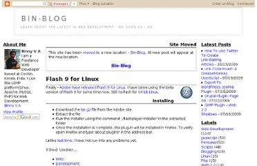 http://binnyva.blogspot.com/2007/01/flash-9-for-linux.html