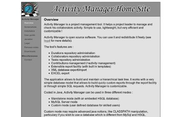 http://activitymanager.sourceforge.net/overview.html