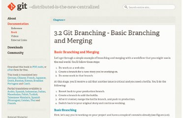 http://book.git-scm.com/3_basic_branching_and_merging.html