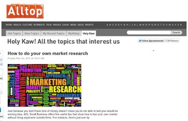 http://holykaw.alltop.com/how-to-do-your-own-market-research