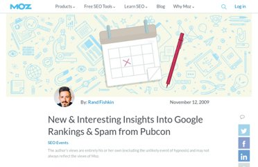 http://www.seomoz.org/blog/new-interesting-insights-into-google-rankings-spam-from-pubcon
