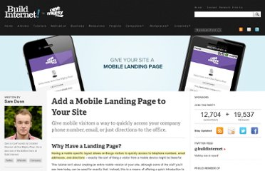 http://buildinternet.com/2011/01/add-a-mobile-landing-page-to-your-site/