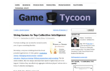 http://www.edery.org/2006/09/using-games-to-tap-collective-intelligence/