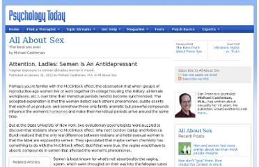 http://www.psychologytoday.com/blog/all-about-sex/201101/attention-ladies-semen-is-antidepressant