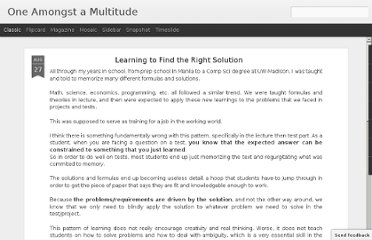 http://greystark.blogspot.com/2007/08/learning-to-find-right-solution.html