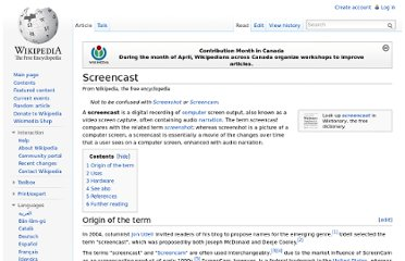 http://en.wikipedia.org/wiki/Screencast