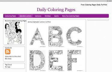 http://dailycoloringpages.com/alphabet-letters-to-print/challenging-animal-alphabet-letters-to-print/