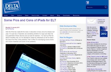 http://www.deltapublishing.co.uk/uncategorized/some-pros-and-cons-of-ipads-for-elt