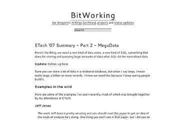 http://bitworking.org/news/158/ETech-07-Summary-Part-2-MegaData