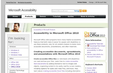 http://www.microsoft.com/enable/products/office2010/default.aspx