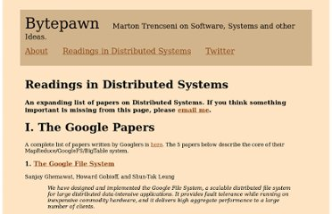 http://bytepawn.com/readings-in-distributed-systems/