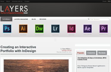http://layersmagazine.com/creating-an-interactive-portfolio-with-indesign.html