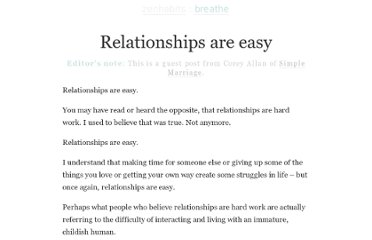 http://zenhabits.net/relationships/