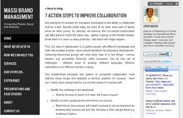 http://stevemassi.com/7-action-steps-to-improve-collaboration