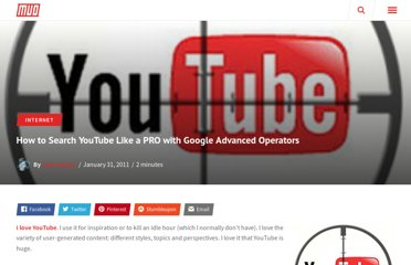 http://www.makeuseof.com/tag/search-youtube-pro-google-advanced-operators/