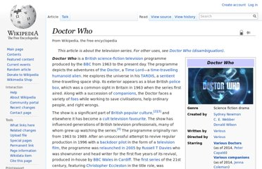 http://en.wikipedia.org/wiki/Doctor_Who