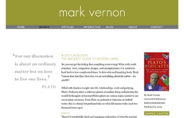 http://www.markvernon.com/html/books/platos_podcasts.shtml