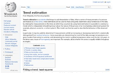 http://en.wikipedia.org/wiki/Trend_estimation