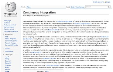 http://en.wikipedia.org/wiki/Continuous_integration