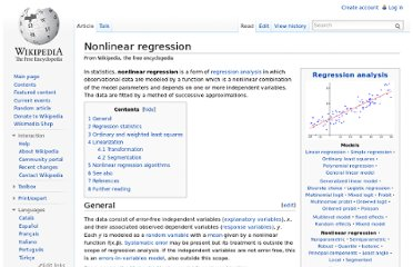 http://en.wikipedia.org/wiki/Nonlinear_regression