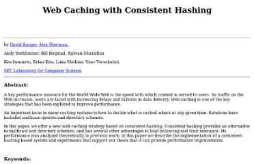 http://www8.org/w8-papers/2a-webserver/caching/paper2.html
