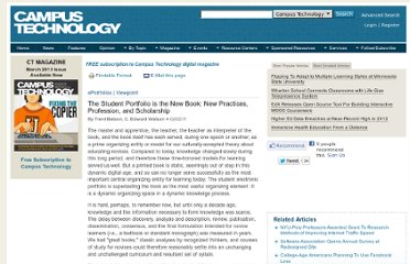 http://campustechnology.com/articles/2011/02/02/the-student-portfolio-is-the-new-book.aspx