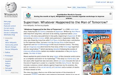 http://en.wikipedia.org/wiki/Superman:_Whatever_Happened_to_the_Man_of_Tomorrow%3F