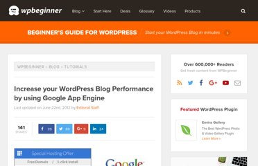 http://www.wpbeginner.com/wp-tutorials/increase-your-wordpress-blog-performance-by-using-google-app-engine/