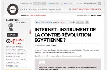 http://owni.fr/2011/02/03/internet-instrument-de-la-contre-revolution-egyptienne/